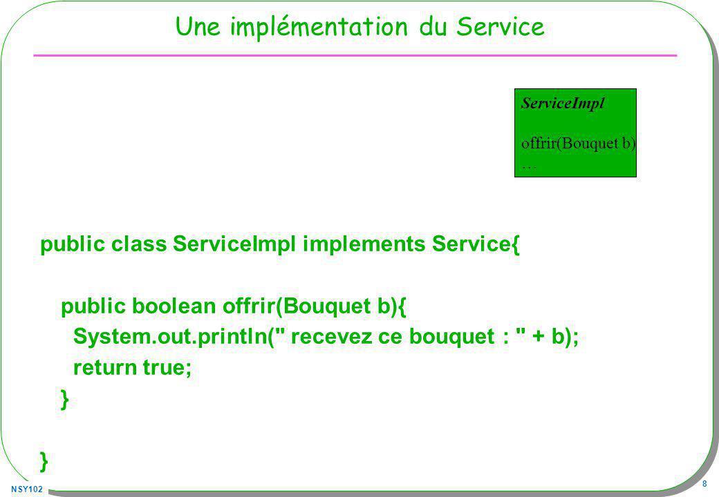 Une implémentation du Service