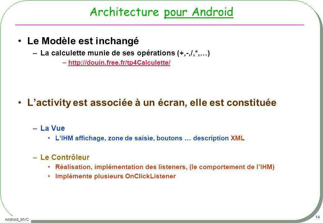 Architecture pour Android