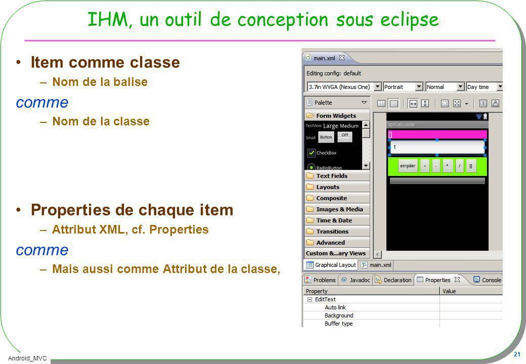 IHM, un outil de conception sous eclipse