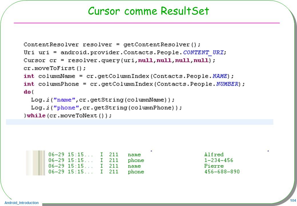 Cursor comme ResultSet