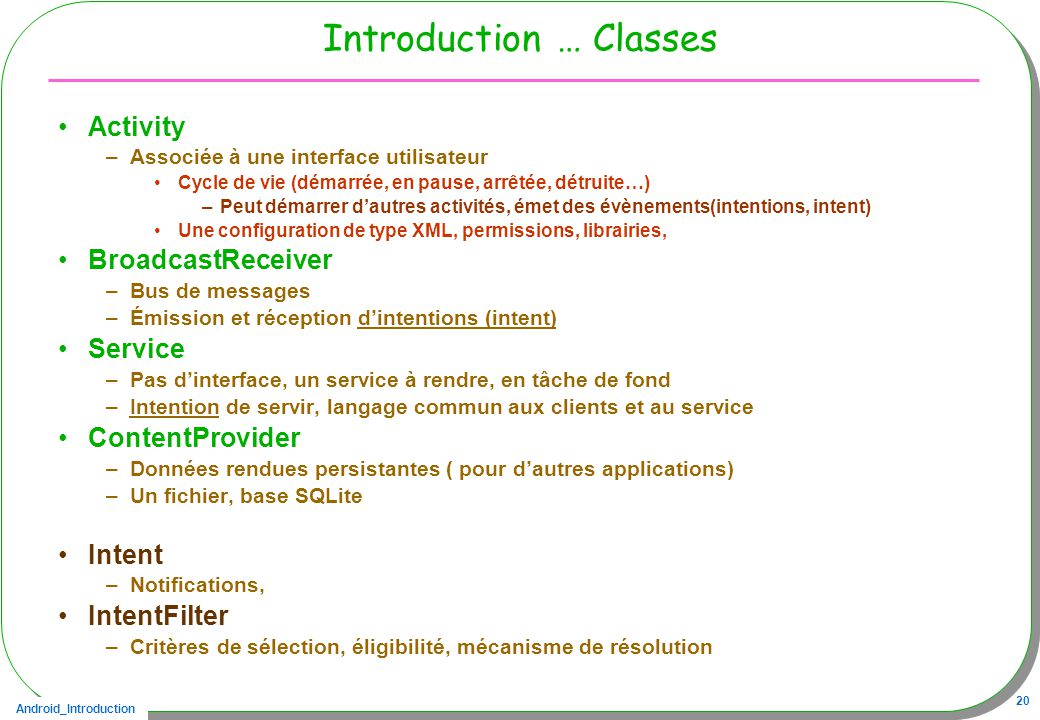 Introduction … Classes