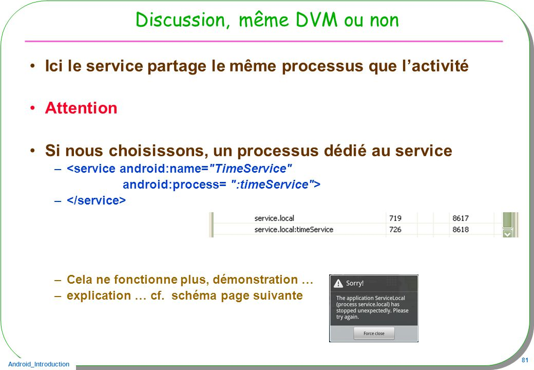 Discussion, même DVM ou non