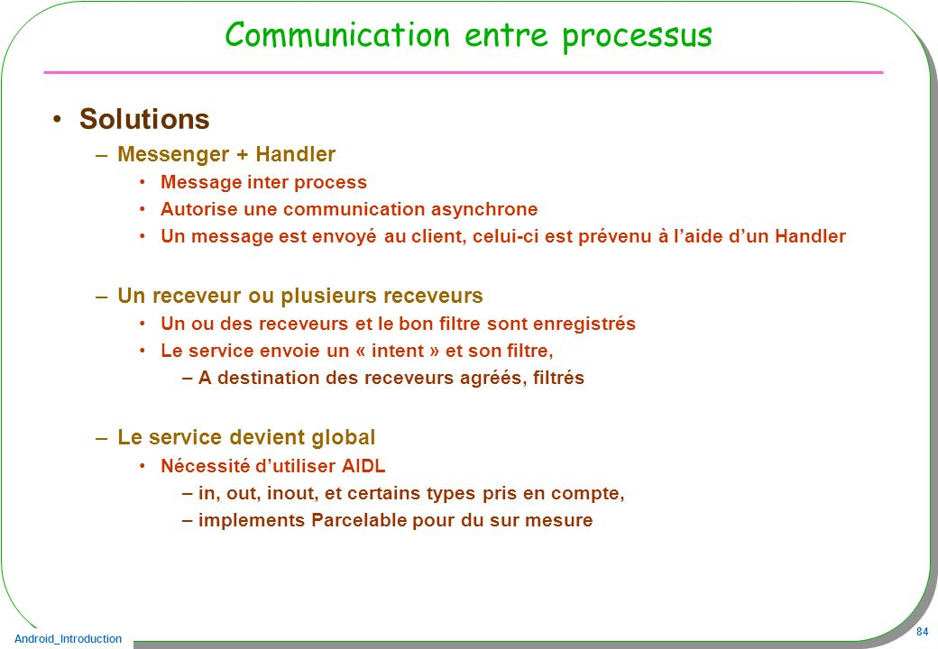 Communication entre processus