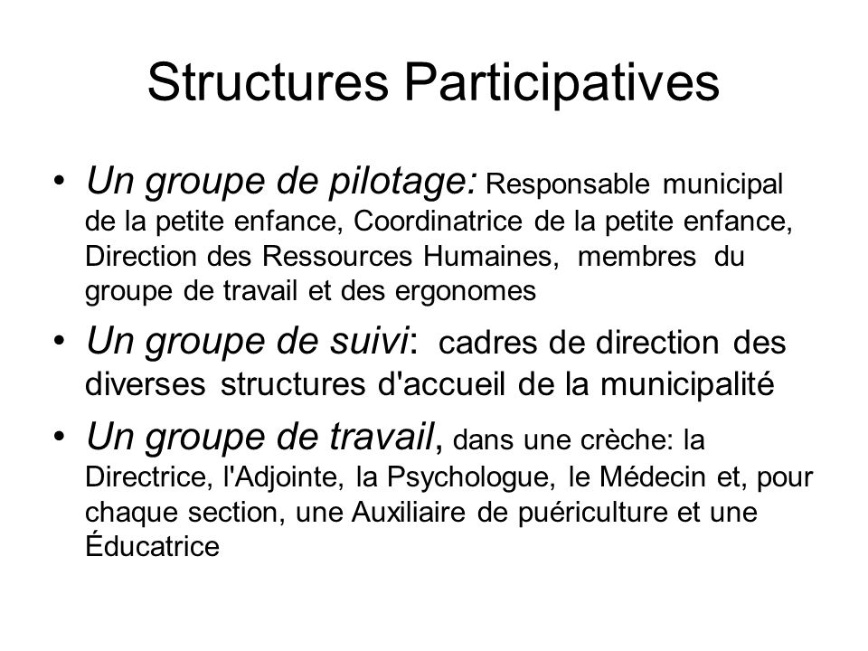 Structures Participatives