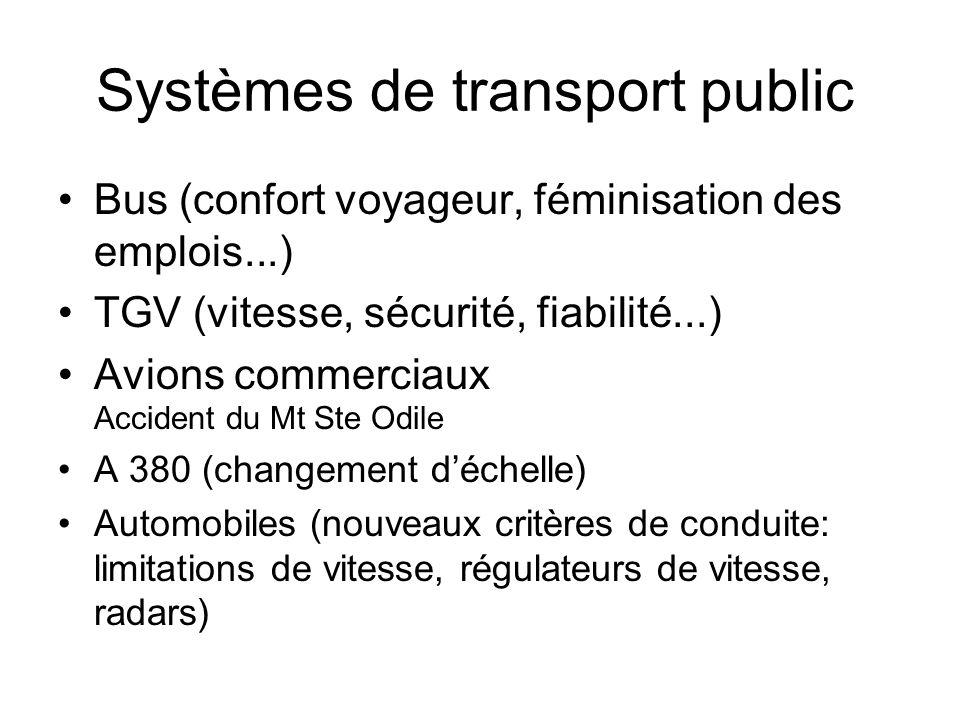 Systèmes de transport public