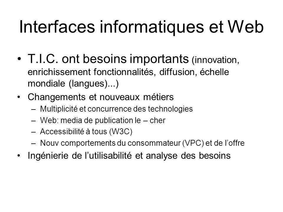 Interfaces informatiques et Web
