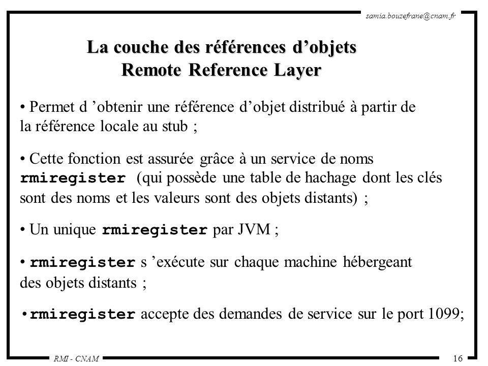 La couche des références d'objets Remote Reference Layer