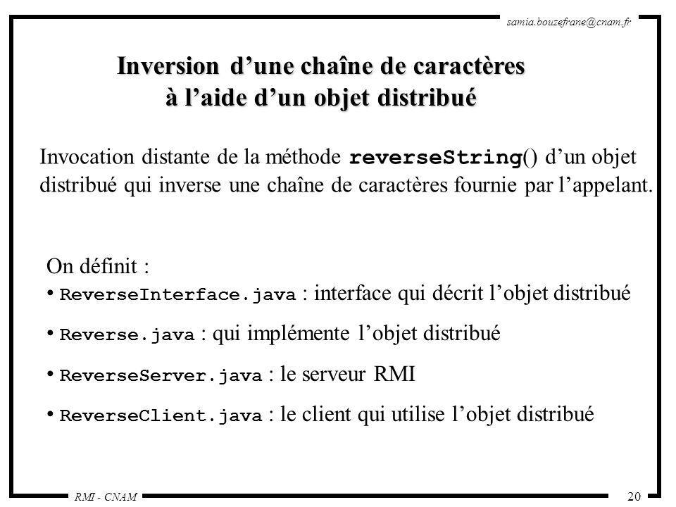 Inversion d'une chaîne de caractères à l'aide d'un objet distribué