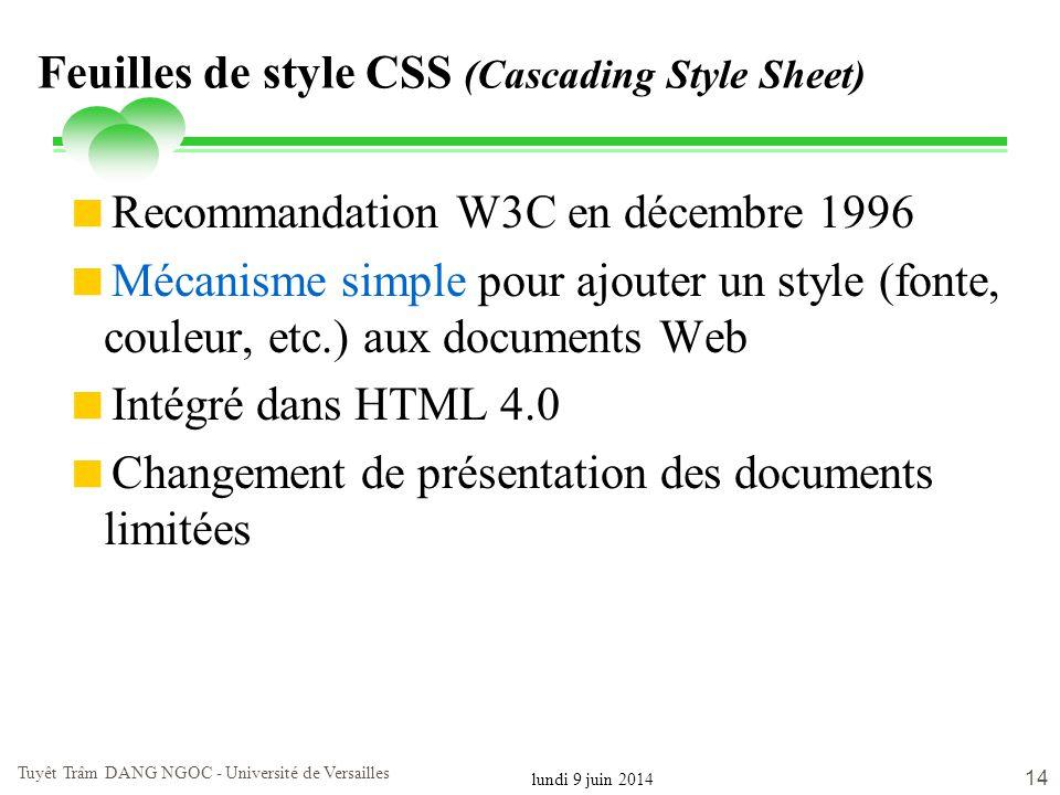 Feuilles de style CSS (Cascading Style Sheet)