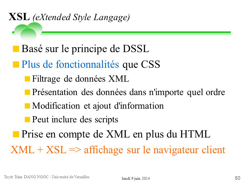 XSL (eXtended Style Langage)