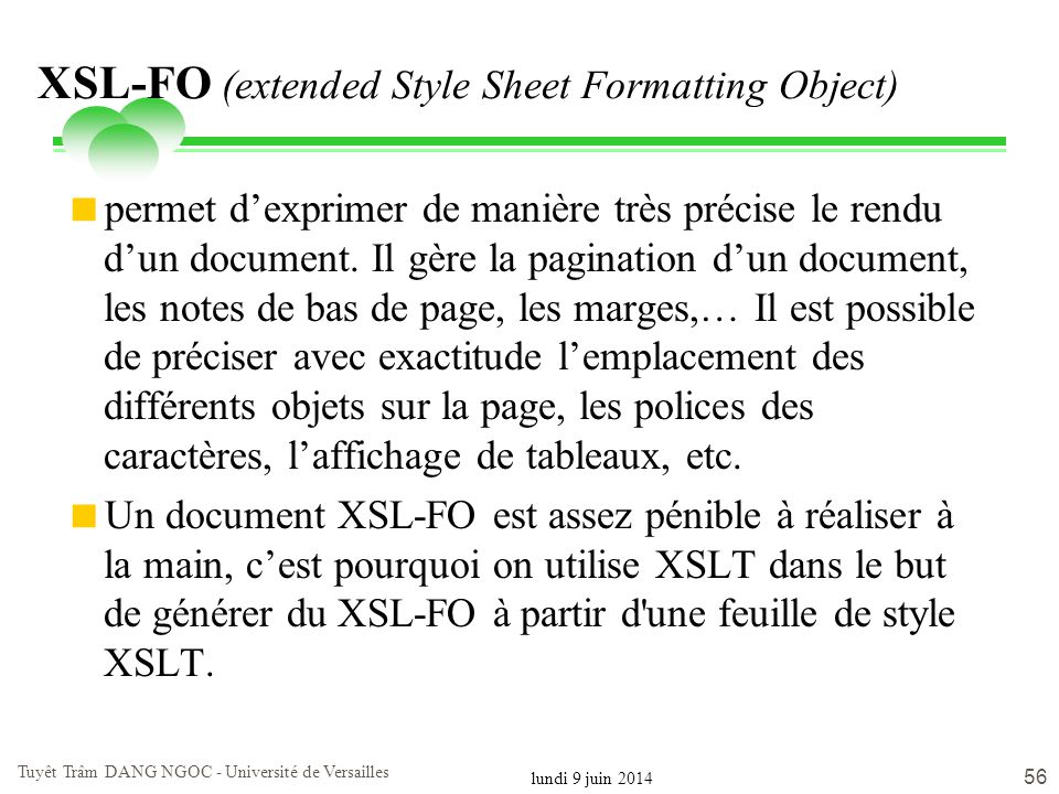 XSL-FO (extended Style Sheet Formatting Object)