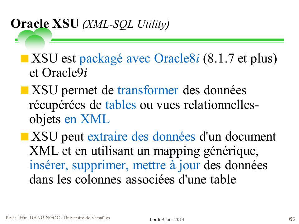 Oracle XSU (XML-SQL Utility)