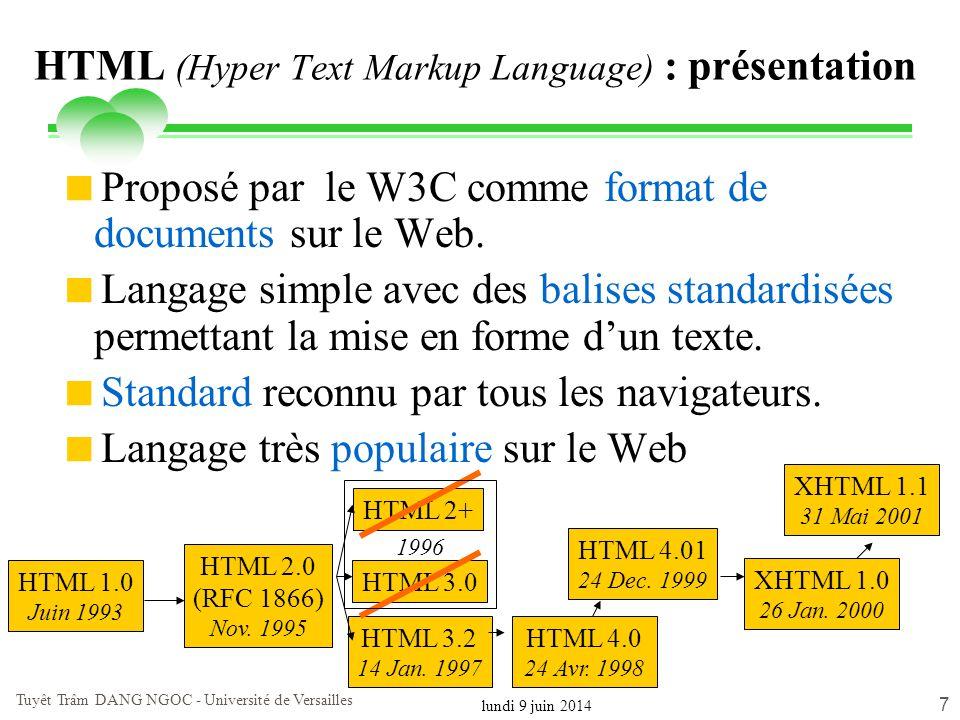 HTML (Hyper Text Markup Language) : présentation