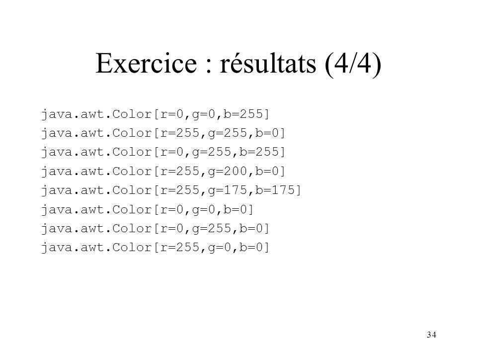 Exercice : résultats (4/4)