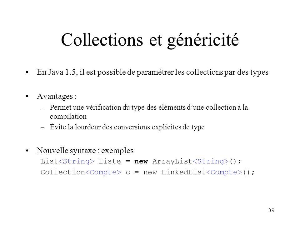 Collections et généricité