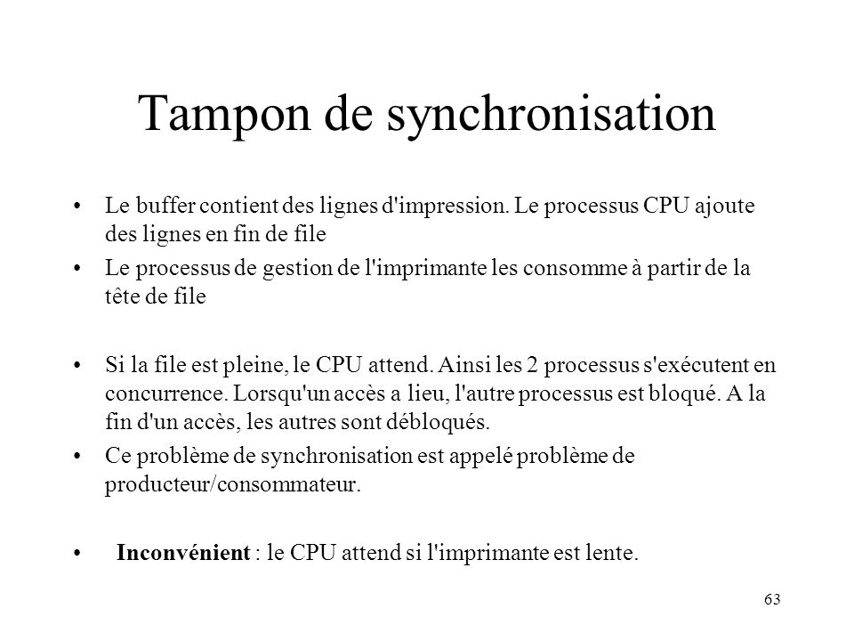 Tampon de synchronisation