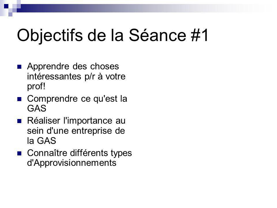 Objectifs de la Séance #1