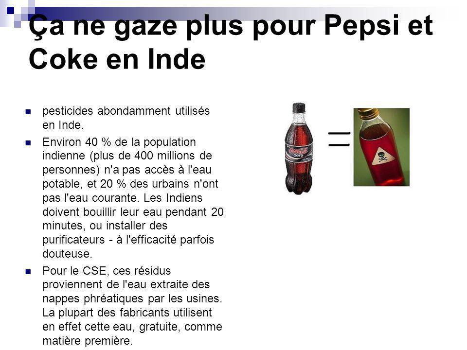 Ça ne gaze plus pour Pepsi et Coke en Inde