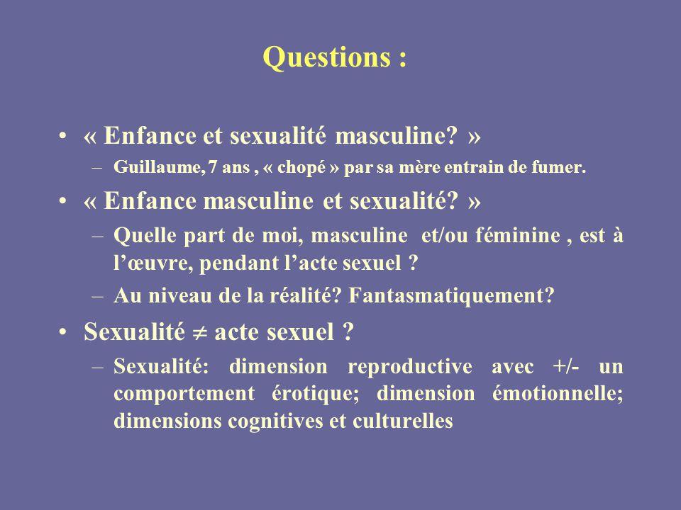 « Enfance et sexualité masculine »