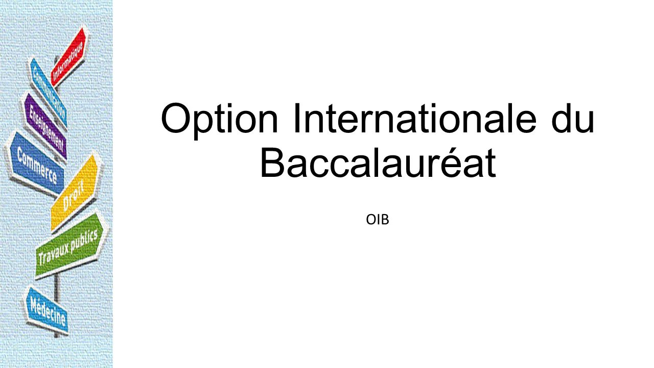 Option Internationale du Baccalauréat