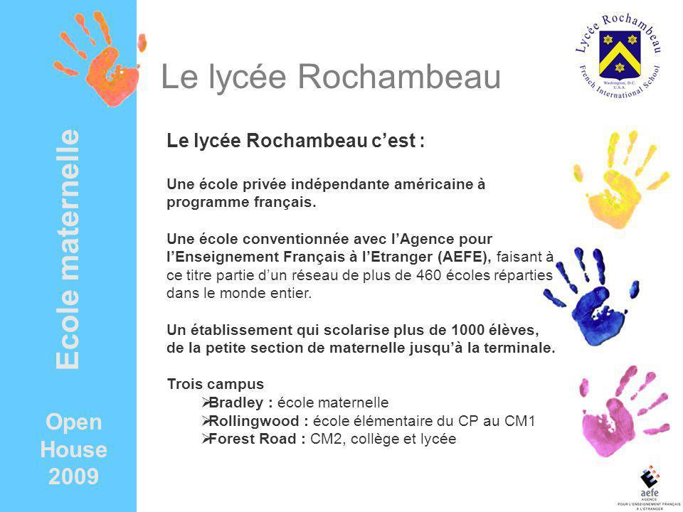 Le lycée Rochambeau Ecole maternelle Open House 2009