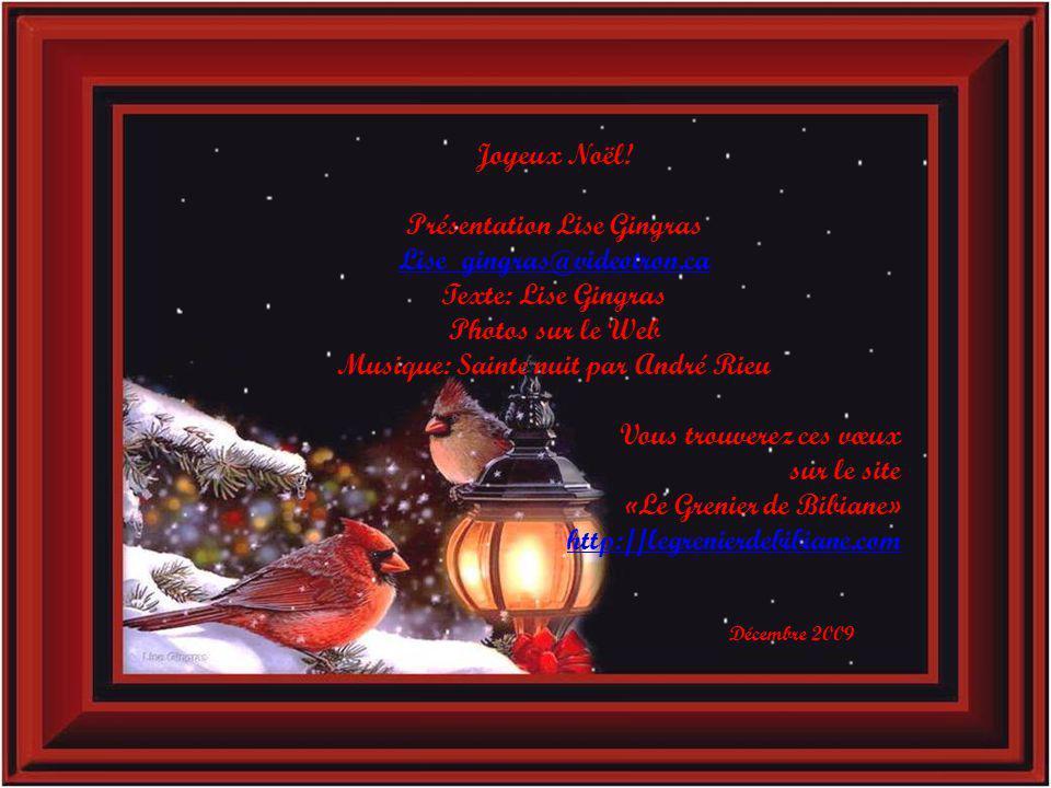 Présentation Lise Gingras Musique: Sainte nuit par André Rieu