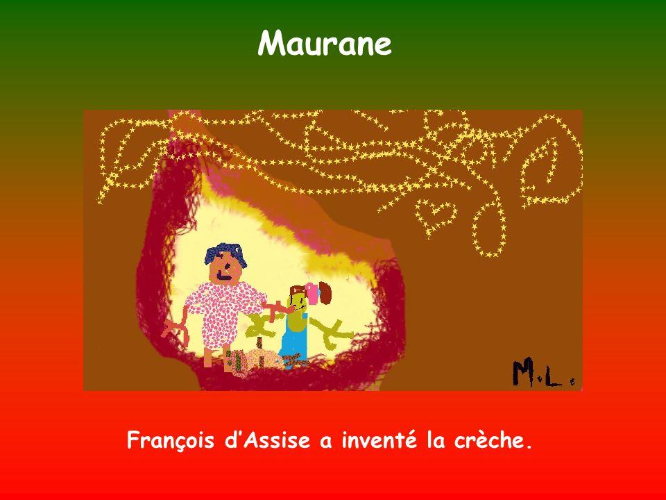 François d'Assise a inventé la crèche.
