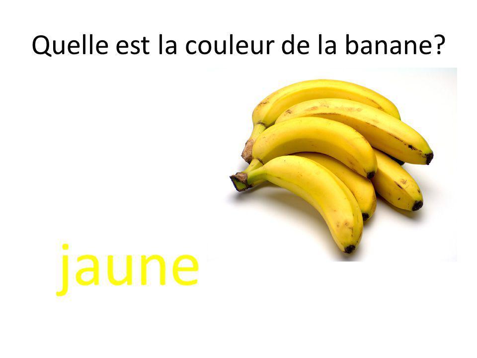 Quelle est la couleur de la banane
