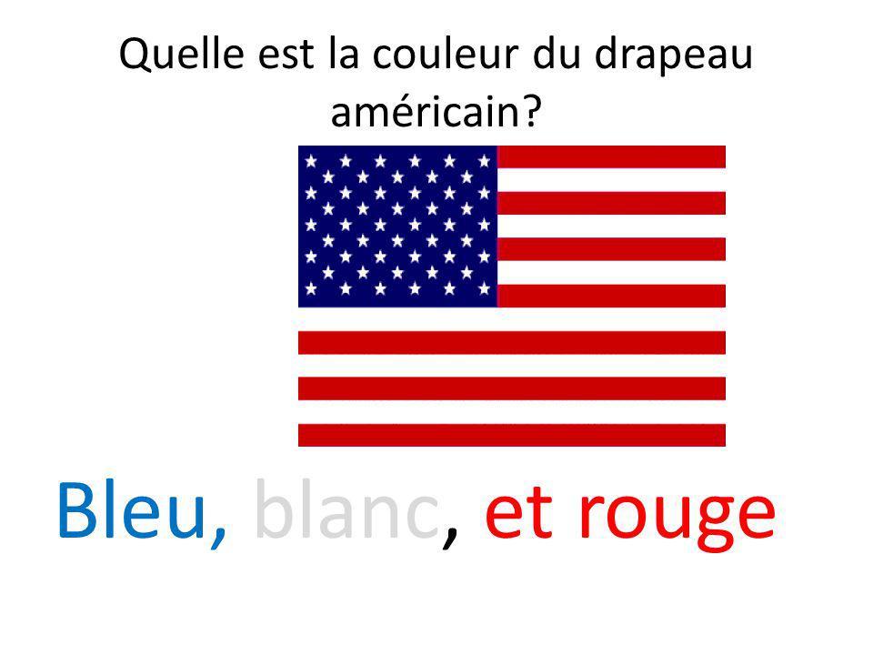 Quelle est la couleur du drapeau américain