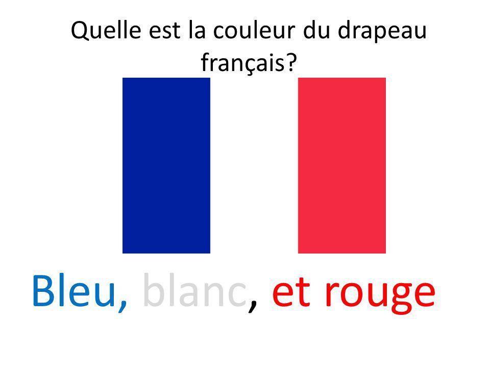 Quelle est la couleur du drapeau français