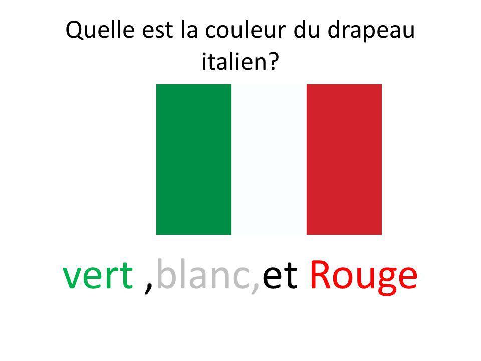 Quelle est la couleur du drapeau italien