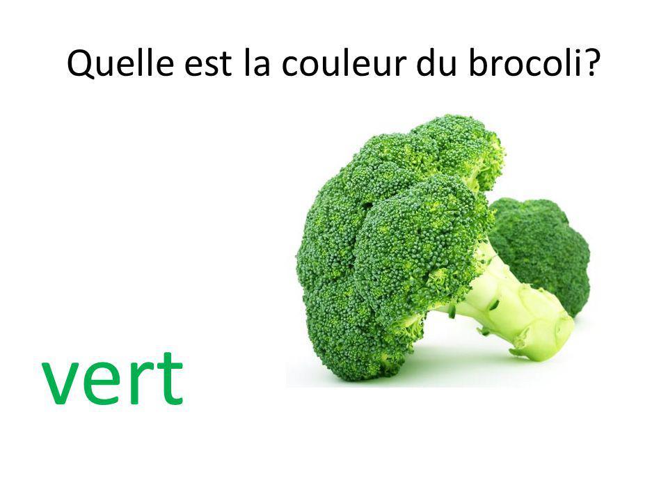 Quelle est la couleur du brocoli