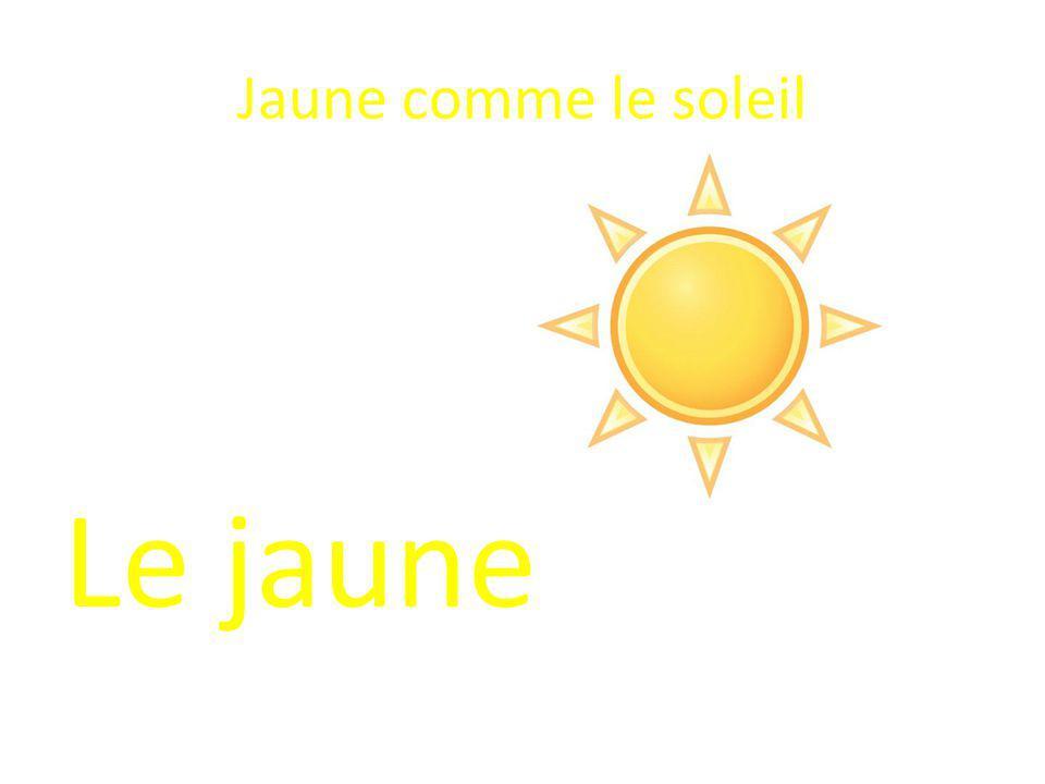 Jaune comme le soleil Le jaune