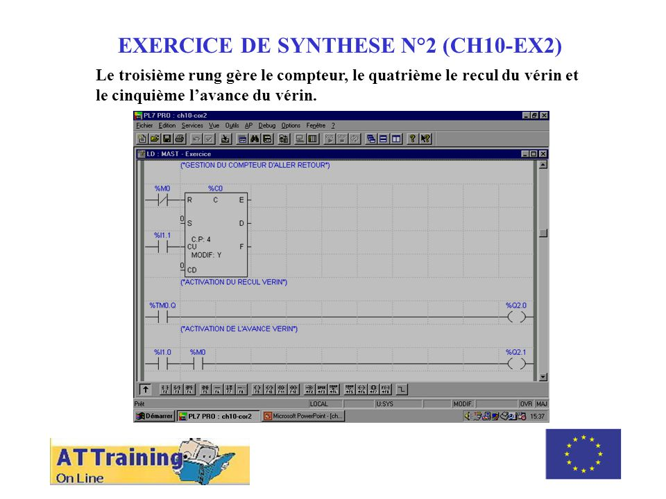 EXERCICE DE SYNTHESE N°2 (CH10-EX2) ROLE DES DIFFERENTS ELEMENTS