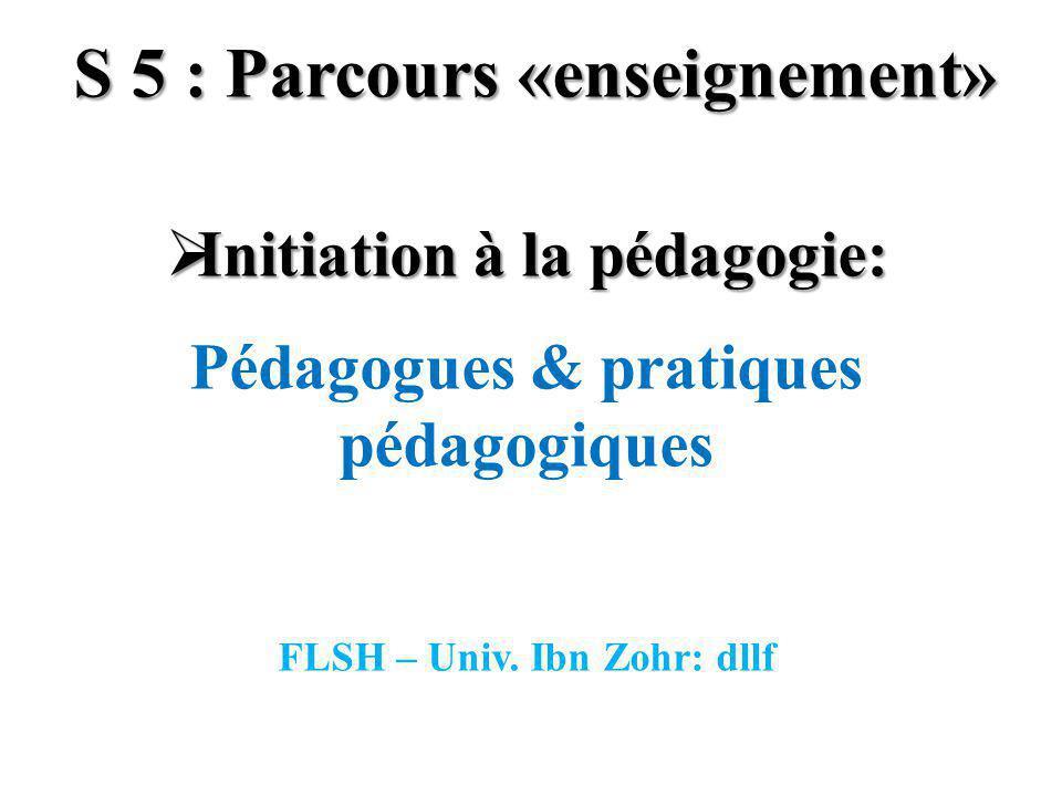 S 5 : Parcours «enseignement»