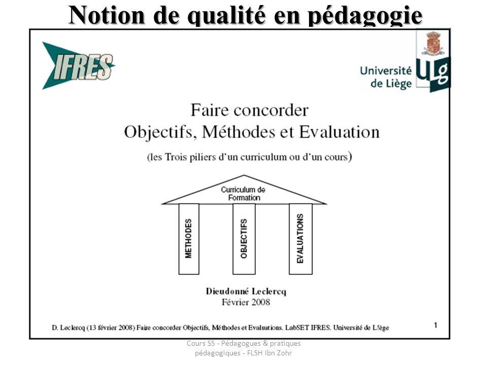 Notion de qualité en pédagogie