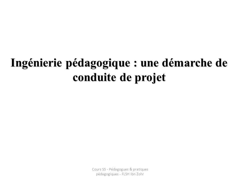 Ingénierie pédagogique : une démarche de conduite de projet