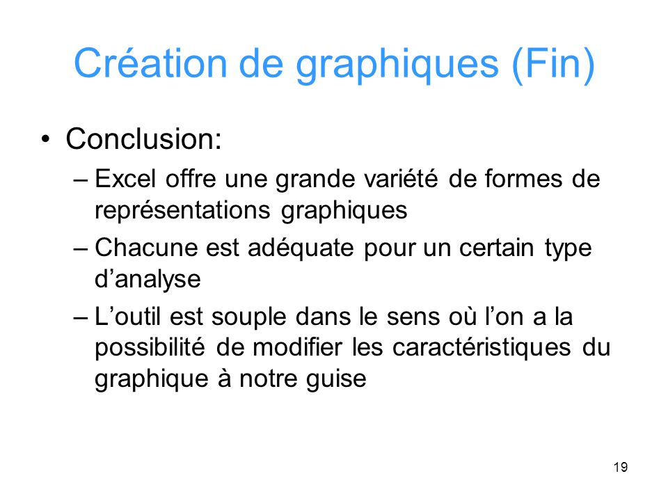 Création de graphiques (Fin)