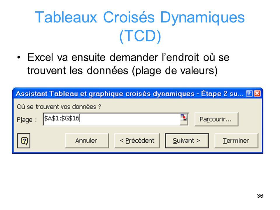 Tableaux Croisés Dynamiques (TCD)