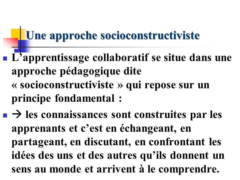 Une approche socioconstructiviste
