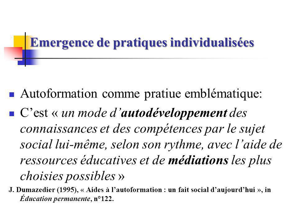 Emergence de pratiques individualisées