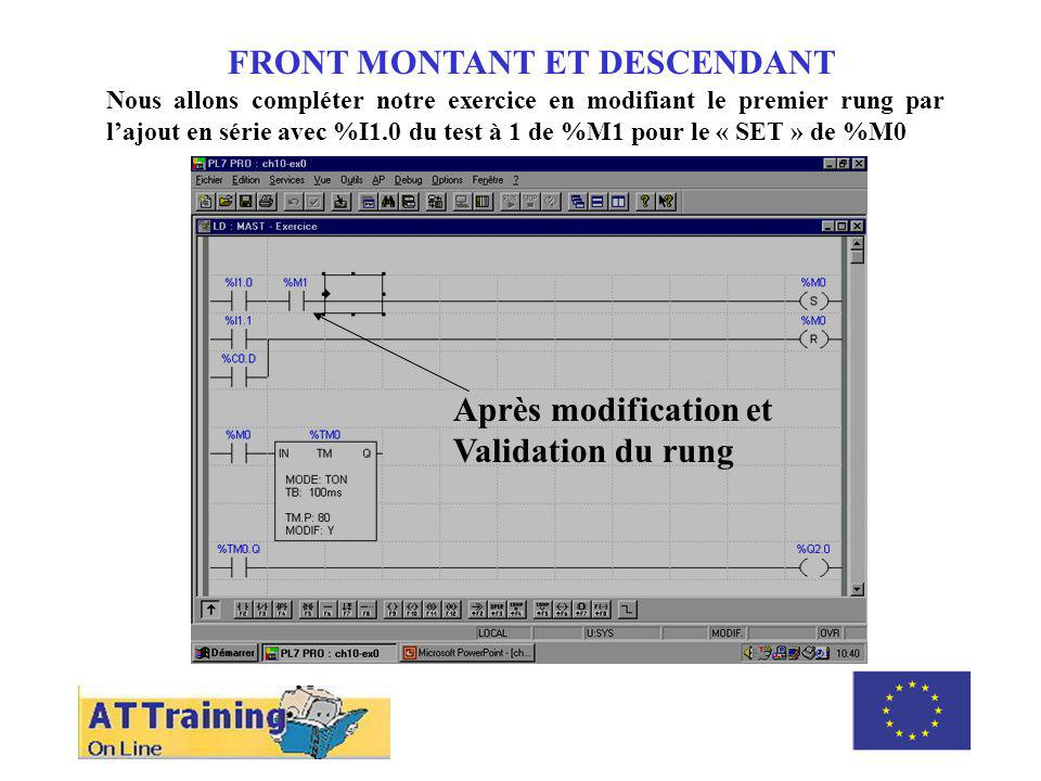 FRONT MONTANT ET DESCENDANT ROLE DES DIFFERENTS ELEMENTS