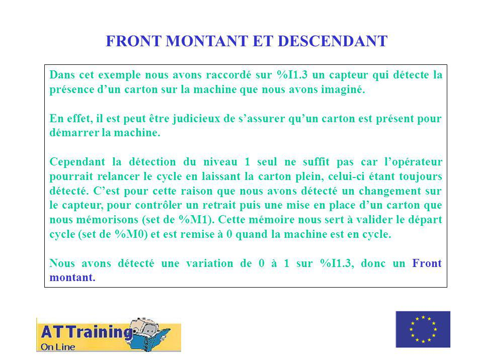 ROLE DES DIFFERENTS ELEMENTS FRONT MONTANT ET DESCENDANT