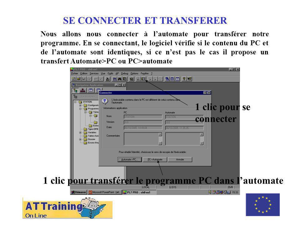 SE CONNECTER ET TRANSFERER