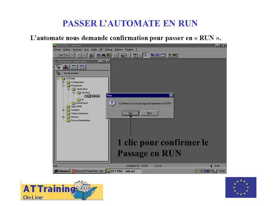 PASSER L'AUTOMATE EN RUN