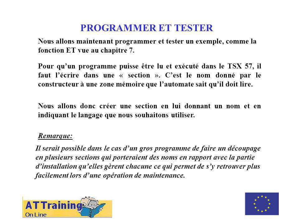 ROLE DES DIFFERENTS ELEMENTS PROGRAMMER ET TESTER