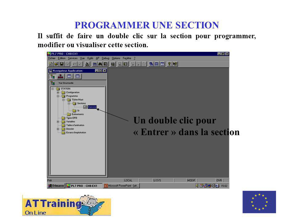 ROLE DES DIFFERENTS ELEMENTS PROGRAMMER UNE SECTION