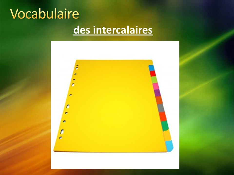 Vocabulaire des intercalaires