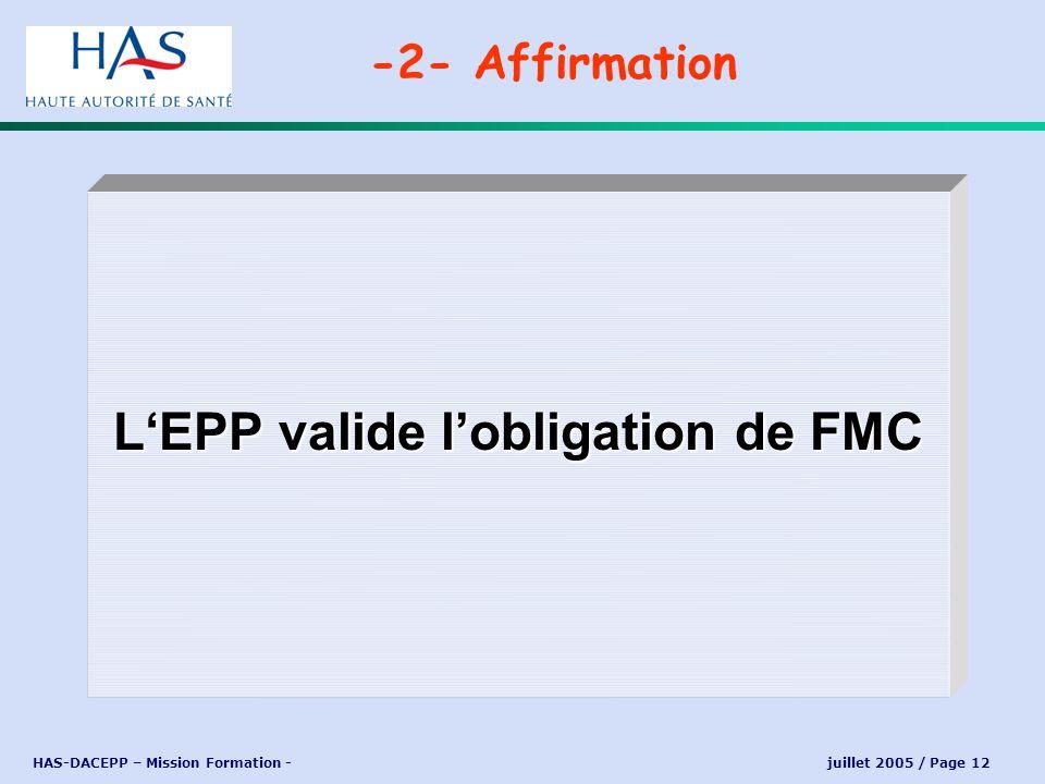 L'EPP valide l'obligation de FMC