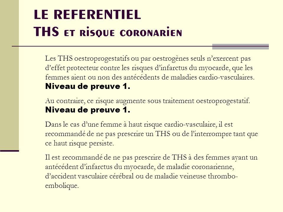 LE REFERENTIEL THS et risque coronarien